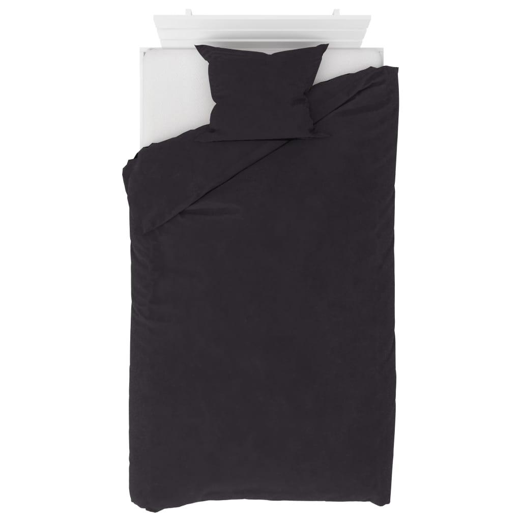 vidaXL 2dílná sada povlečení fleece antracitová 140 x 220 / 60 x 70 cm