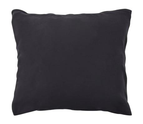 vidaXL Set husă pilotă, 3 piese, antracit, 200x220/60x70 cm, fleece[3/4]