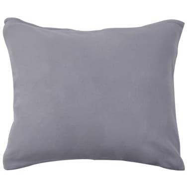 vidaXL Set husă pilotă, 2 piese, gri, 140 x 200/60 x 70 cm, fleece[3/4]