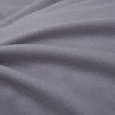 vidaXL Set husă pilotă, 3 piese, gri, 200 x 200/60 x 70 cm, fleece[4/4]