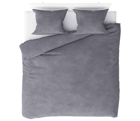 vidaXL Bäddset fleece grå 200x220/60x70 cm