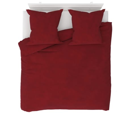 vidaXL Set husă pilotă, roșu vin, 200 x 220/80 x 80 cm fleece