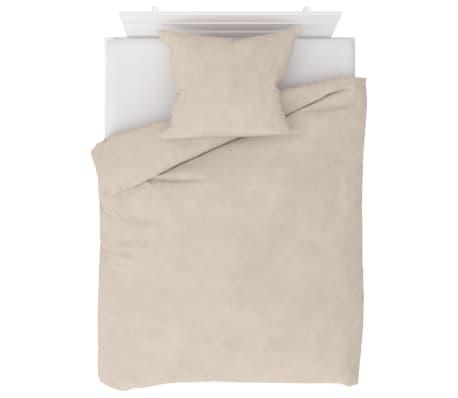 vidaXL Dekbedovertrekset 140x200/60x70 cm fleece beige
