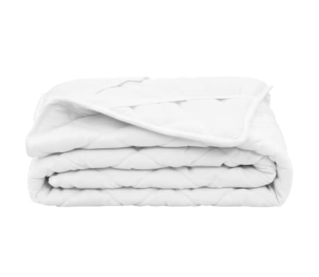 vidaXL Quilted Mattress Protector White 70x140 cm Heavy