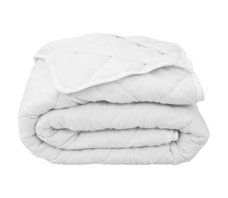 vidaXL Dygsniuota čiužinio apsauga, baltos spalvos, 120x200cm, sunki[1/4]
