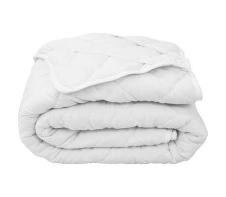 vidaXL Dygsniuota čiužinio apsauga, baltos spalvos, 140x200cm, lengva[1/4]