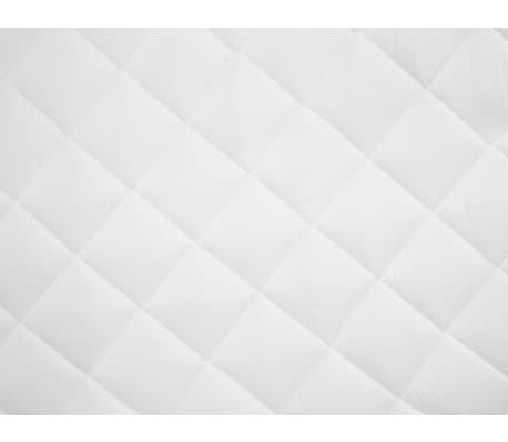 vidaXL Dygsniuota čiužinio apsauga, baltos spalvos, 140x200cm, sunki[3/4]