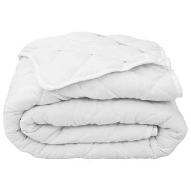 vidaXL Dygsniuota čiužinio apsauga, baltos spalvos, 160x200cm, lengva[1/4]