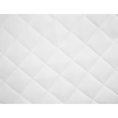 vidaXL Dygsniuota čiužinio apsauga, baltos spalvos, 160x200cm, lengva[3/4]