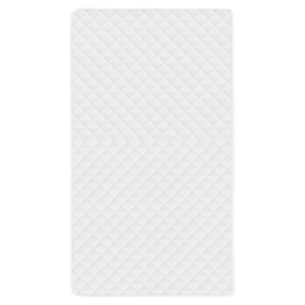 vidaXL Prošívaný chránič matrace bílý 120 x 200 cm lehký