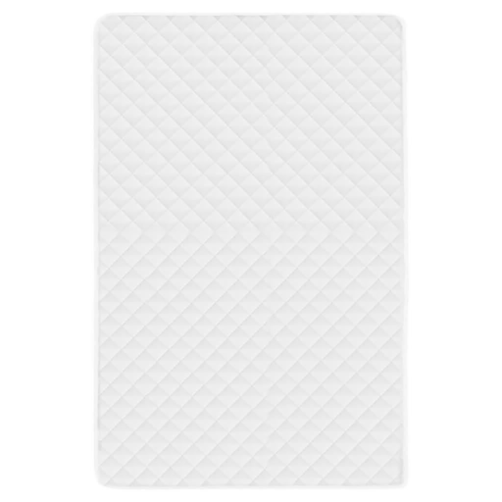 vidaXL Prošívaný chránič matrace bílý 140 x 200 cm lehký