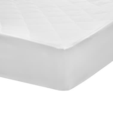 vidaXL Kviltat madrasskydd vit 140x200 cm tungt[4/5]