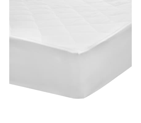 vidaXL Kviltat madrasskydd vit 160x200 cm lätt[4/5]