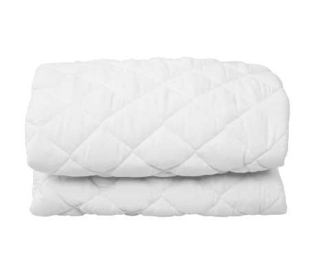 vidaXL Quilted Mattress Protector White 160x200 cm Heavy