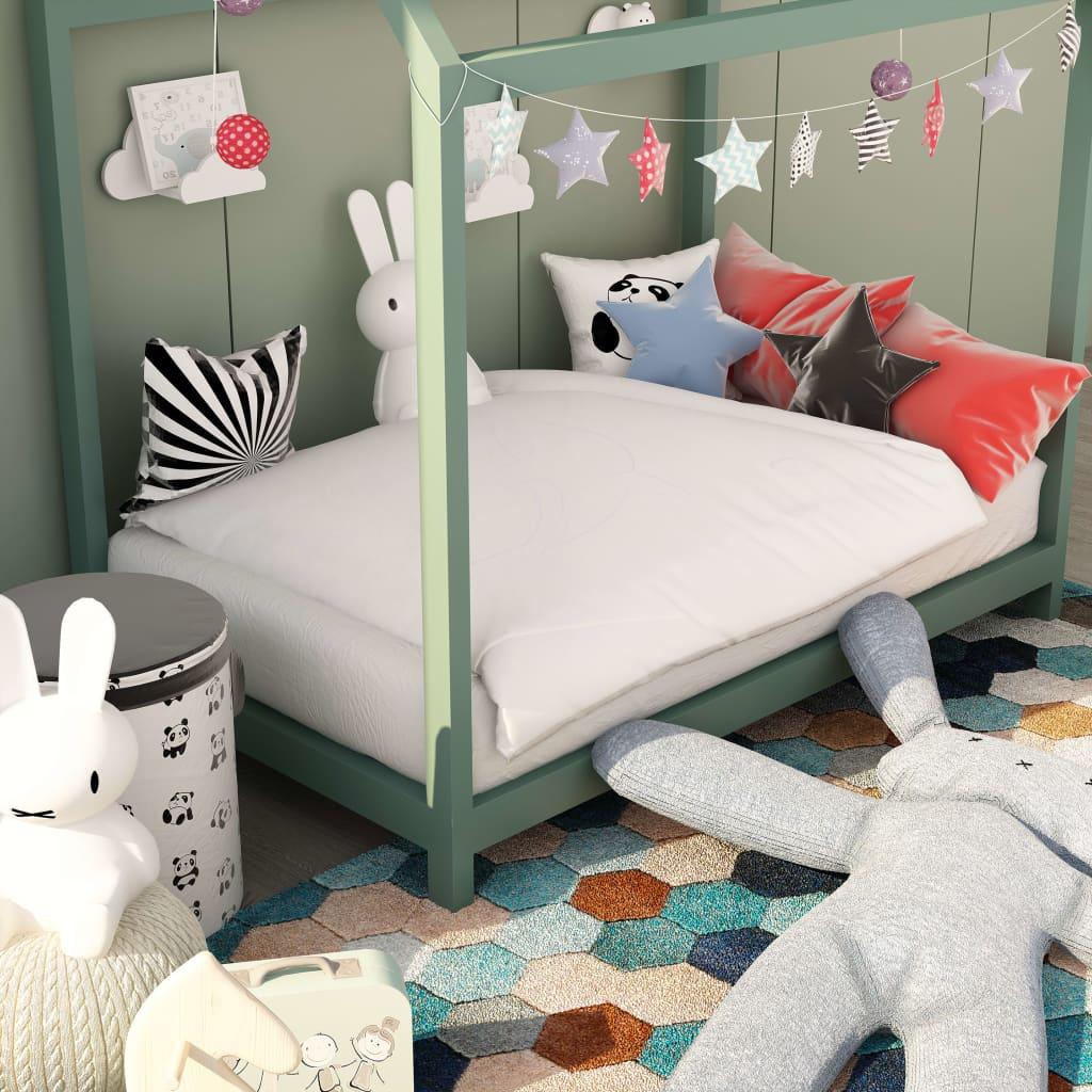 2-tlg. Kinder-Winterbettwäsche-Set Weiß 100×135 / 40×60 cm