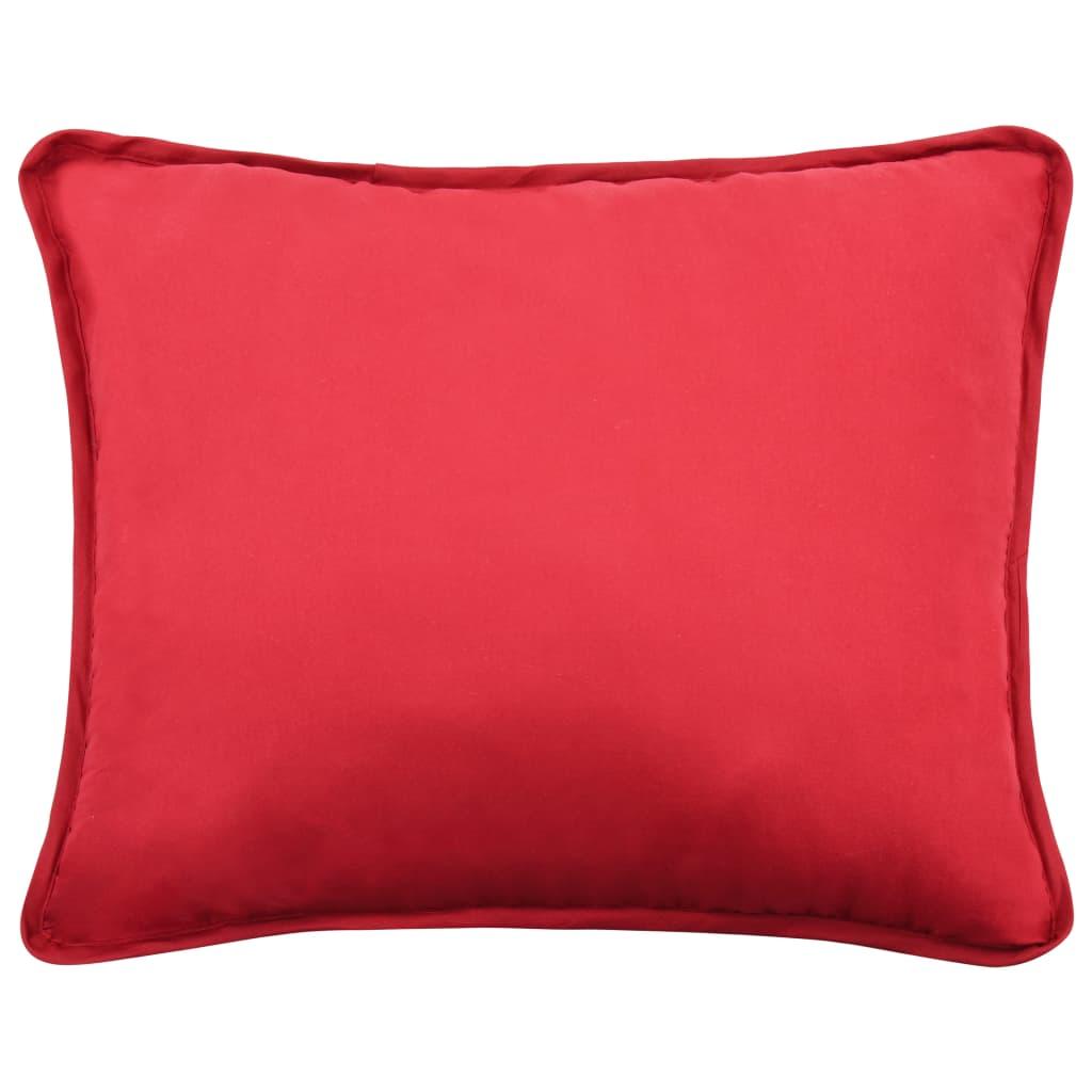 VidaXL 3 delige Winterdekbedset 200x200 60x70 cm stof bordeauxrood