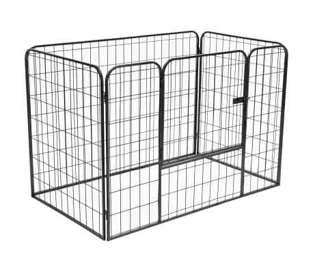 vidaXL Recinto per Cani Resistente Nero 120x80x70 cm in Acciaio[1/7]