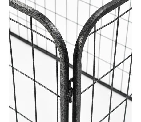 vidaXL Recinto per Cani Resistente Nero 120x80x70 cm in Acciaio[4/7]