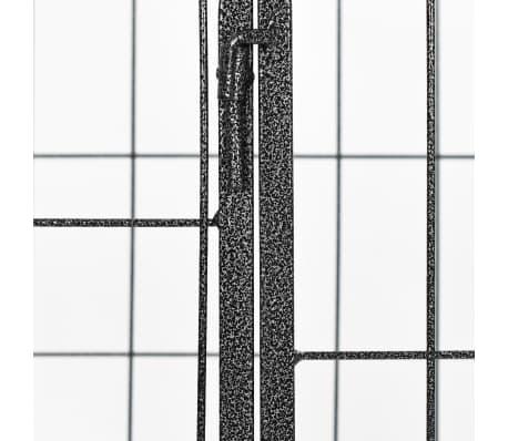 vidaXL Recinto per Cani Resistente Nero 120x80x70 cm in Acciaio[6/7]