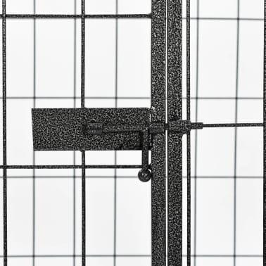 vidaXL Recinto per Cani Resistente Nero 120x80x70 cm in Acciaio[5/7]