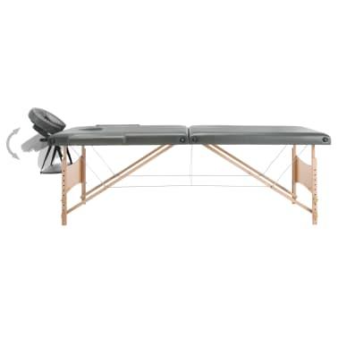 vidaXL Masă de masaj cu 2 zone, cadru din lemn, antracit, 186 x 68 cm[3/10]