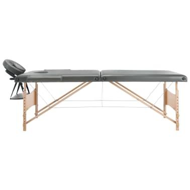 vidaXL Masă de masaj cu 2 zone, cadru din lemn, antracit, 186 x 68 cm[9/10]