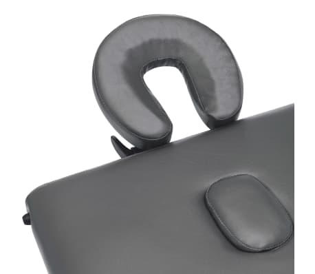 vidaXL Masažna miza s 3 conami lesen okvir antracit 186x68 cm[6/12]