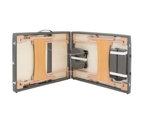 vidaXL Masažna miza s 3 conami lesen okvir antracit 186x68 cm[8/12]