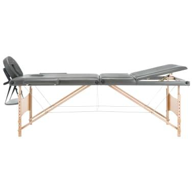 vidaXL Masažna miza s 3 conami lesen okvir antracit 186x68 cm[4/12]
