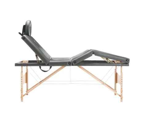 vidaXL Masažinis stalas, 4 zonų, antracito sp., 186x68cm, med. rėmas[3/12]