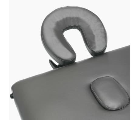 vidaXL Masažinis stalas, 4 zonų, antracito sp., 186x68cm, med. rėmas[7/12]