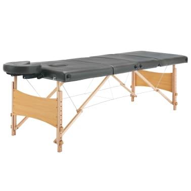 vidaXL Masažinis stalas, 4 zonų, antracito sp., 186x68cm, med. rėmas[4/12]