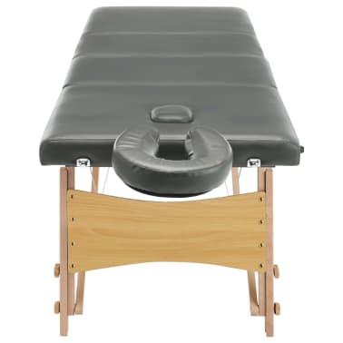 vidaXL Masažinis stalas, 4 zonų, antracito sp., 186x68cm, med. rėmas[5/12]