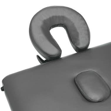 vidaXL Masă de masaj cu 2 zone, cadru aluminiu, antracit, 186 x 68 cm[6/10]