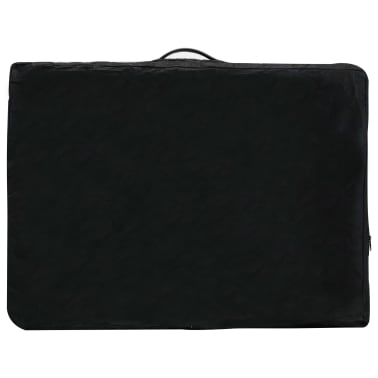 vidaXL Masă de masaj cu 2 zone, cadru aluminiu, antracit, 186 x 68 cm[10/10]
