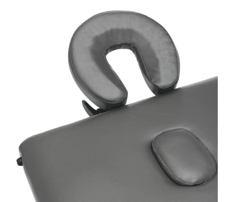 vidaXL Masă de masaj cu 3 zone, cadru aluminiu, antracit, 186 x 68 cm[8/12]