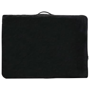 vidaXL Masă de masaj cu 3 zone, cadru aluminiu, antracit, 186 x 68 cm[11/12]