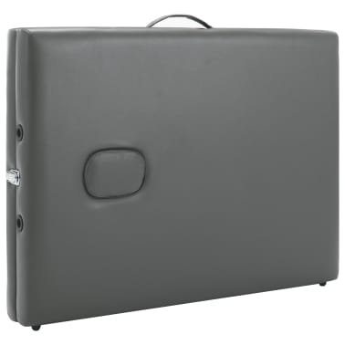 vidaXL Masă de masaj cu 3 zone, cadru aluminiu, antracit, 186 x 68 cm[7/12]