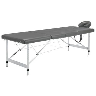 vidaXL Masă de masaj cu 4 zone, cadru aluminiu, antracit, 186 x 68 cm[1/12]
