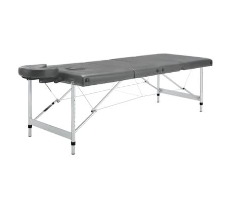 vidaXL Masă de masaj cu 4 zone, cadru aluminiu, antracit, 186 x 68 cm[2/12]