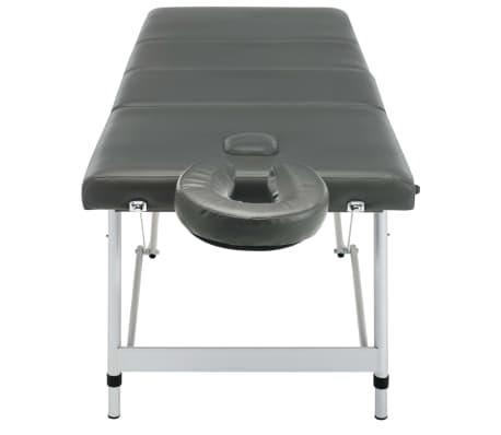 vidaXL Masă de masaj cu 4 zone, cadru aluminiu, antracit, 186 x 68 cm[7/12]