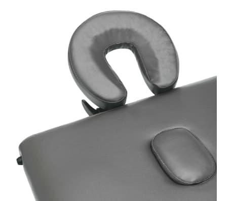 vidaXL Masă de masaj cu 4 zone, cadru aluminiu, antracit, 186 x 68 cm[8/12]