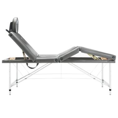 vidaXL Masă de masaj cu 4 zone, cadru aluminiu, antracit, 186 x 68 cm[3/12]