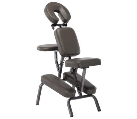 vidaXL Fotel do masażu, sztuczna skóra, antracytowy, 122x81x48 cm[1/9]