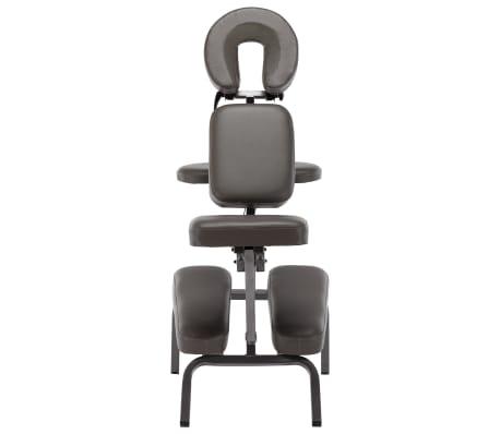 vidaXL Fotel do masażu, sztuczna skóra, antracytowy, 122x81x48 cm[2/9]
