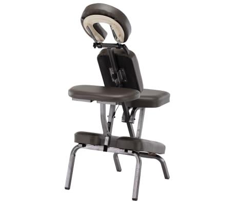 vidaXL Fotel do masażu, sztuczna skóra, antracytowy, 122x81x48 cm[4/9]