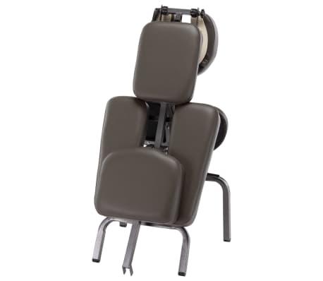 vidaXL Fotel do masażu, sztuczna skóra, antracytowy, 122x81x48 cm[5/9]