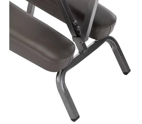 vidaXL Fotel do masażu, sztuczna skóra, antracytowy, 122x81x48 cm[7/9]