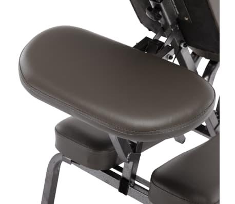 vidaXL Fotel do masażu, sztuczna skóra, antracytowy, 122x81x48 cm[8/9]