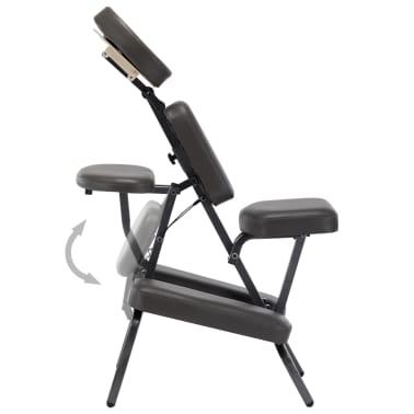 vidaXL Fotel do masażu, sztuczna skóra, antracytowy, 122x81x48 cm[3/9]